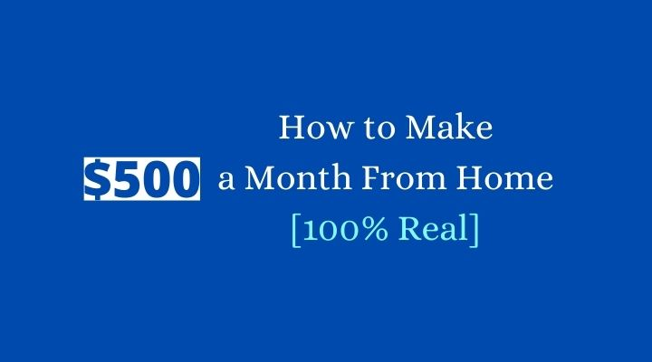 how to make 500 a month