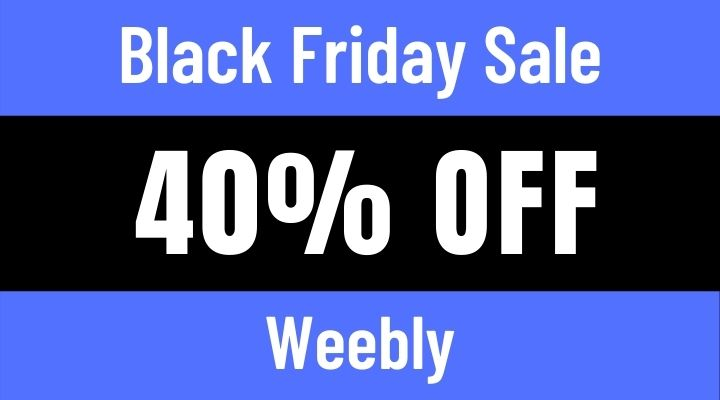 weebly black friday sale